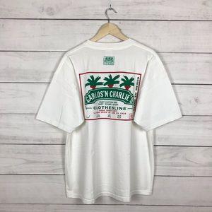 "Vintage 1990s Carlos N Charlies ""Clothing"" T-Shirt"